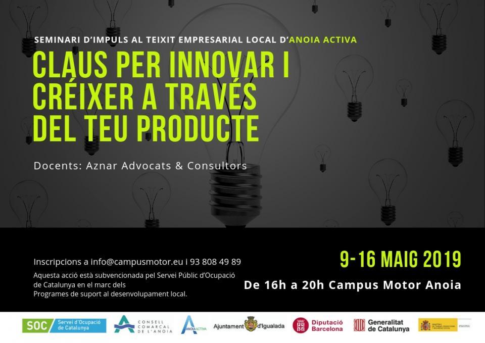 Seminari 'Claus per innovar i créixer a través del teu producte'
