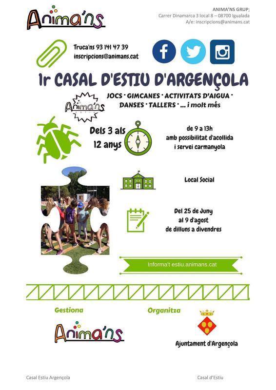 Casal d'estiu d'Argençola 2019 - Argençola