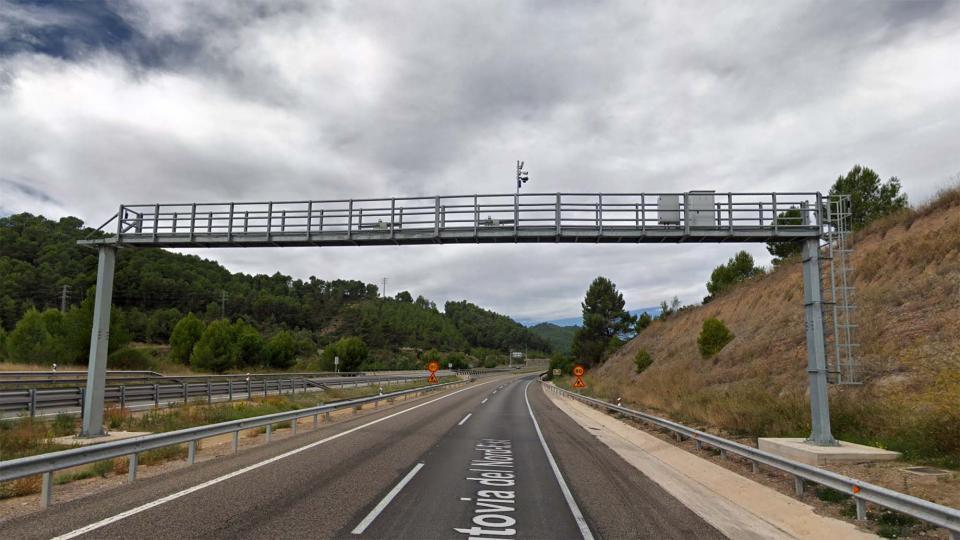 Radar de tram a l'A-2 entre Jorba i Argençola - Argençola