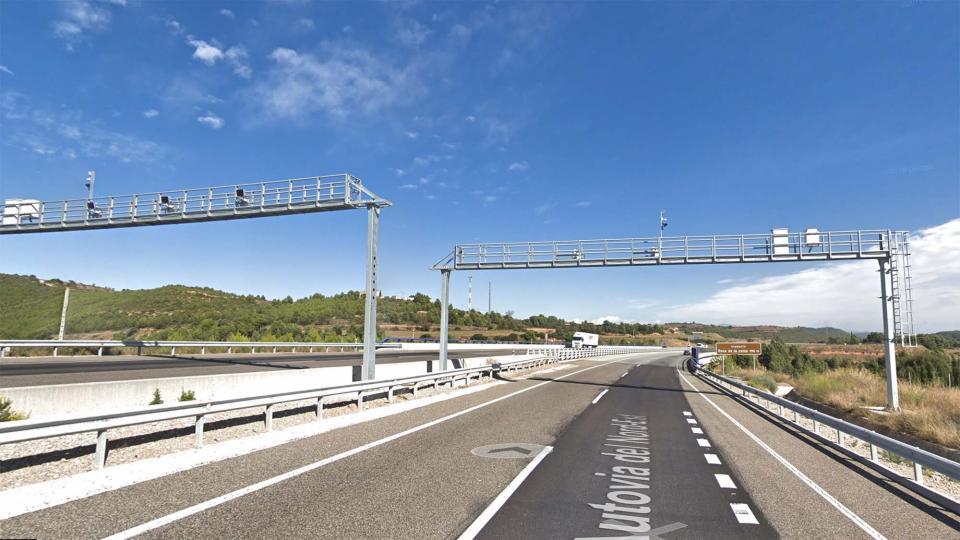 Posen en marxa dos nous radars de tram a l'A-2 entre Argençola i Jorba - Argençola