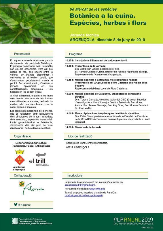Jornada Tècnica 'Botànica a la Cuina. Espècies, herbes i flors' - Argençola