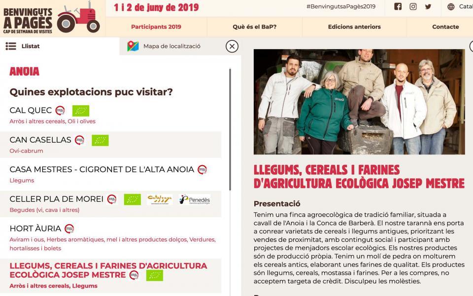 Agricultura ecològica Josep Mestre mostrarà la seva explotació a Benvinguts a pagès - Argençola