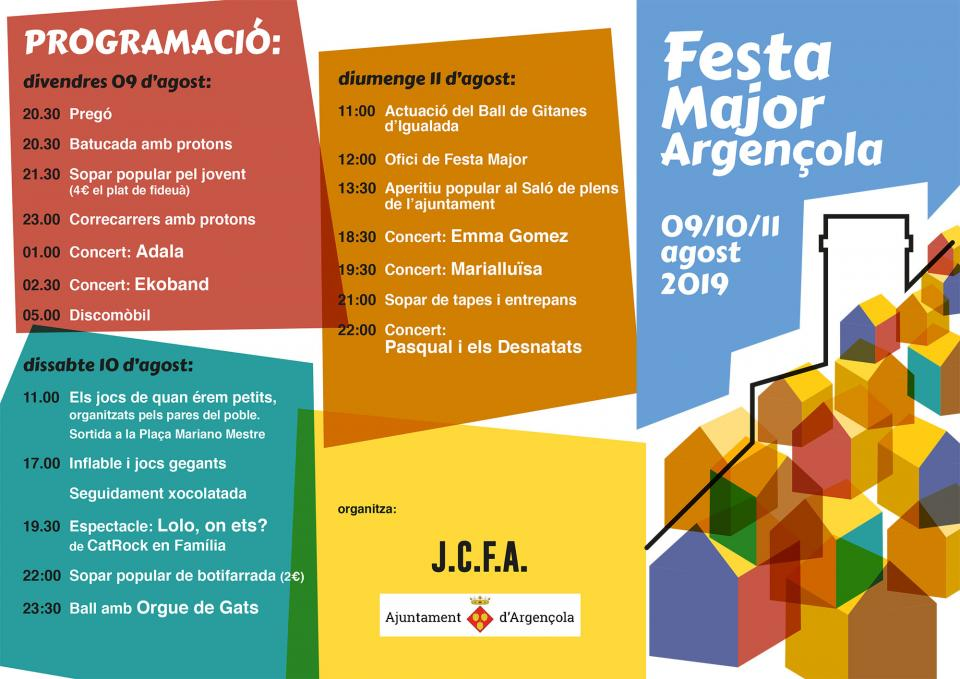 Festa major d'Argençola 2019