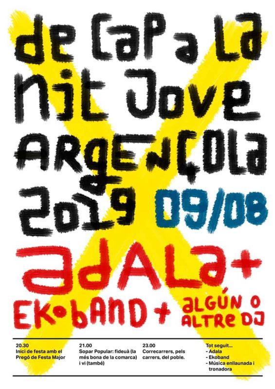 cartell Nit Jove Festa major d'Argençola 2019