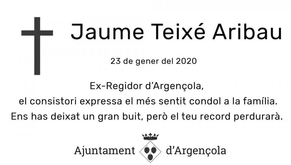 Mor Jaume Teixé i Aribau, víctima del temporal - Argençola