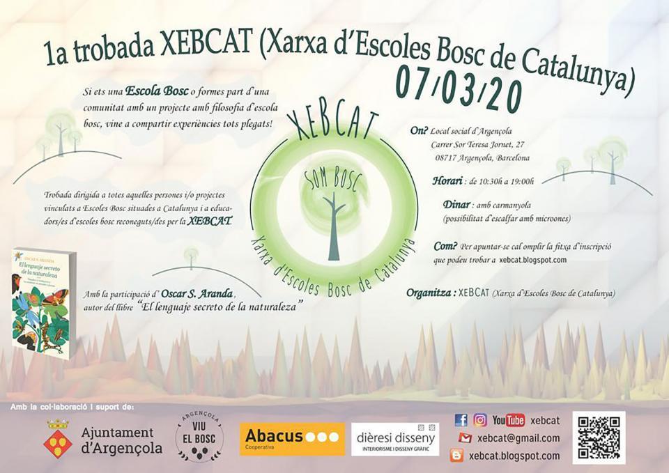 cartell 1a. Trobada d'Escoles Bosc de Catalunya