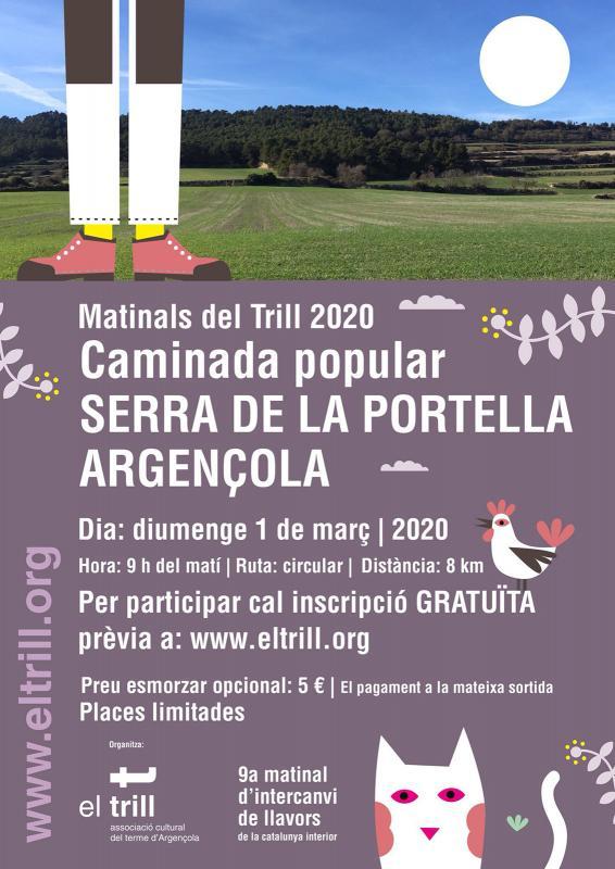cartell Caminada Ruta Serra de la Portella