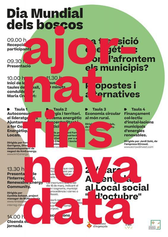 cartell Ajornat Jornada Participativa 'La transició energètica'