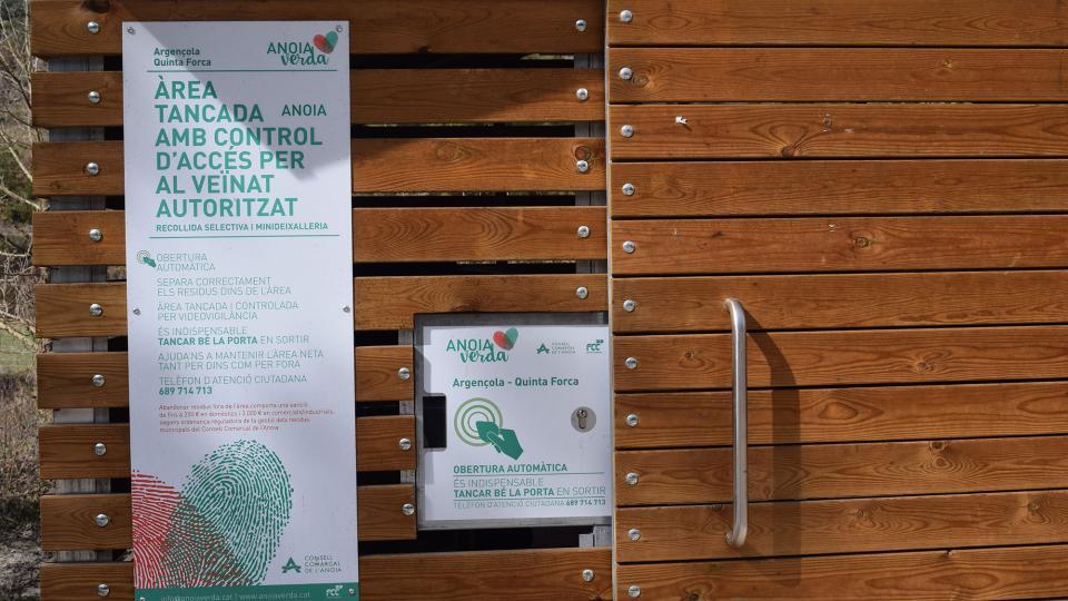 Informació del servei de recollida de residus en les àrees tancades - Argençola