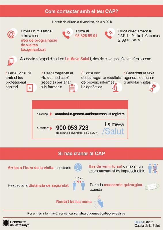Informació per a visites mèdiques al CAP