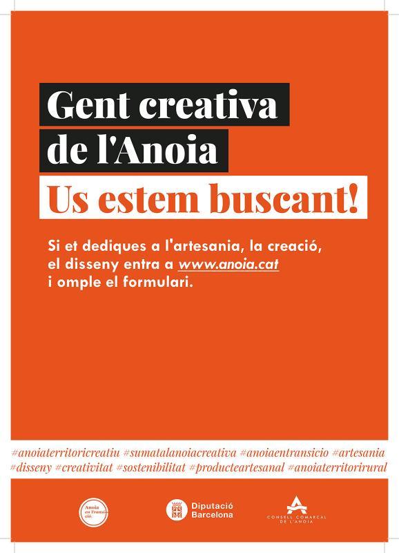 'Gent creativa de l'Anoia, us estem buscant!', nova campanya del Consell Comarcal de l'Anoia -