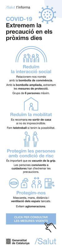 Noves mesures i restriccions per COVID-19 a Catalunya -