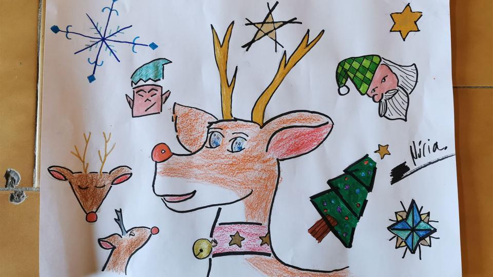 24.12.2020 Taller Pintem el Nadal  Argençola -  Martí Garrancho