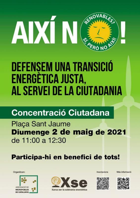 Concentració 'Defensem una transició energètica justa'