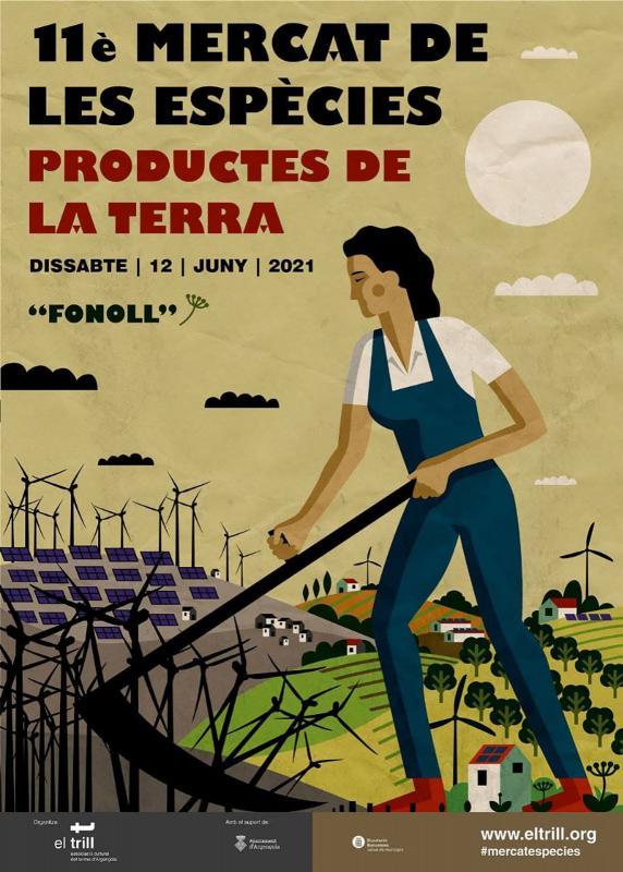 cartell 11è Mercat de les Espècies i Productes de la Terra d'Argençola
