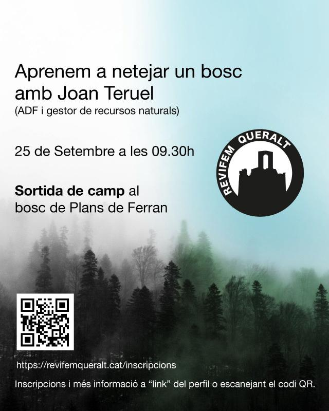 cartell Jornada de sensibilització i neteja del bosc