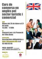 cartell Curs de conversa en anglès pel sector turístic i comercial