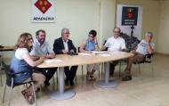 Consistori 2015, d'esquerra a dreta: Marina Berenguer, Jaume Teixé, Toni Lloret, Sònia Duran (secretària), Gumersind Parcerisas i Joan Sola