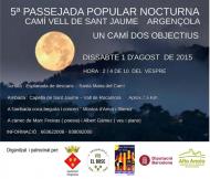 cartell 5a Passejada nocturna i concert a Rocamora