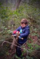 Clariana: El nostre cinque tio trobar als boscos de Clariana, amb la mateixa il.lusió del primer dia  familia Sequi-Serrano