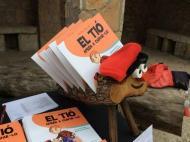 Clariana: El Tió a la parada de Cossetània  Cossetània Edicions