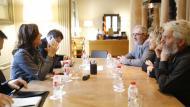 Reunió de l'Associació de Micropobles de Catalunya amb la Diputació de Barcelona