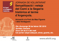 cartell Jornada de voluntariat 'Camí a la Segarra històrica'