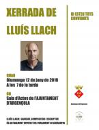 cartell Xerrada de Lluís Llach