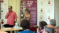 Argençola: Gumersind Parcerisas,Tinent d'alcalde d'Argençola, dóna la benvinguda als assistents  Sílvia Invers