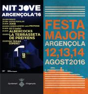 cartell Festa Major d'Argençola 2016