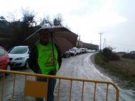 Argençola: Punt de control a la pista de Clariana  Maria Descarrega