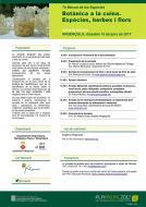 cartell Jornada Tècnica 'Botànica a la Cuina. Espècies, herbes i flors'
