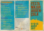 cartell Festa major d'Argençola 2017