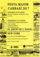cartell Festa Major de Carbasí 2017