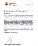 Substitució de la modalitat dels sistema d'actuació per reparcel·lació per a la gestió del PAU-1 'Accés Nord de Porquerisses'