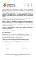 Declarada deserta la licitació per adjudicar la concessió per explotar el servei de bar del Local Social d'Argençola