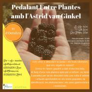 cartell Pedalant entre Plantes amb l'Astrid van Ginkel