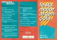 Festa major d'Argençola 2018