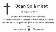 Mor Joan Solà Miret
