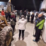 Argençola: Visita al molí d'Agricultura ecològica Pep Mestre  Natxo Oñatibia
