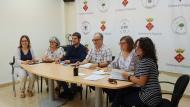 D'esquerra a dreta, Marina Berenguer, Maria Descarrega, Josep Albareda, Gumersind Parcerisas, Sònia Duran (secretària) i Mercè Hernàndez