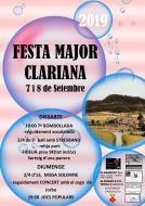 cartell Festa Major de Clariana 2019