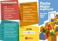 cartell Festa major d'Argençola 2019