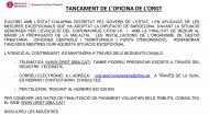 Tancament d'oficines de l'ORGT
