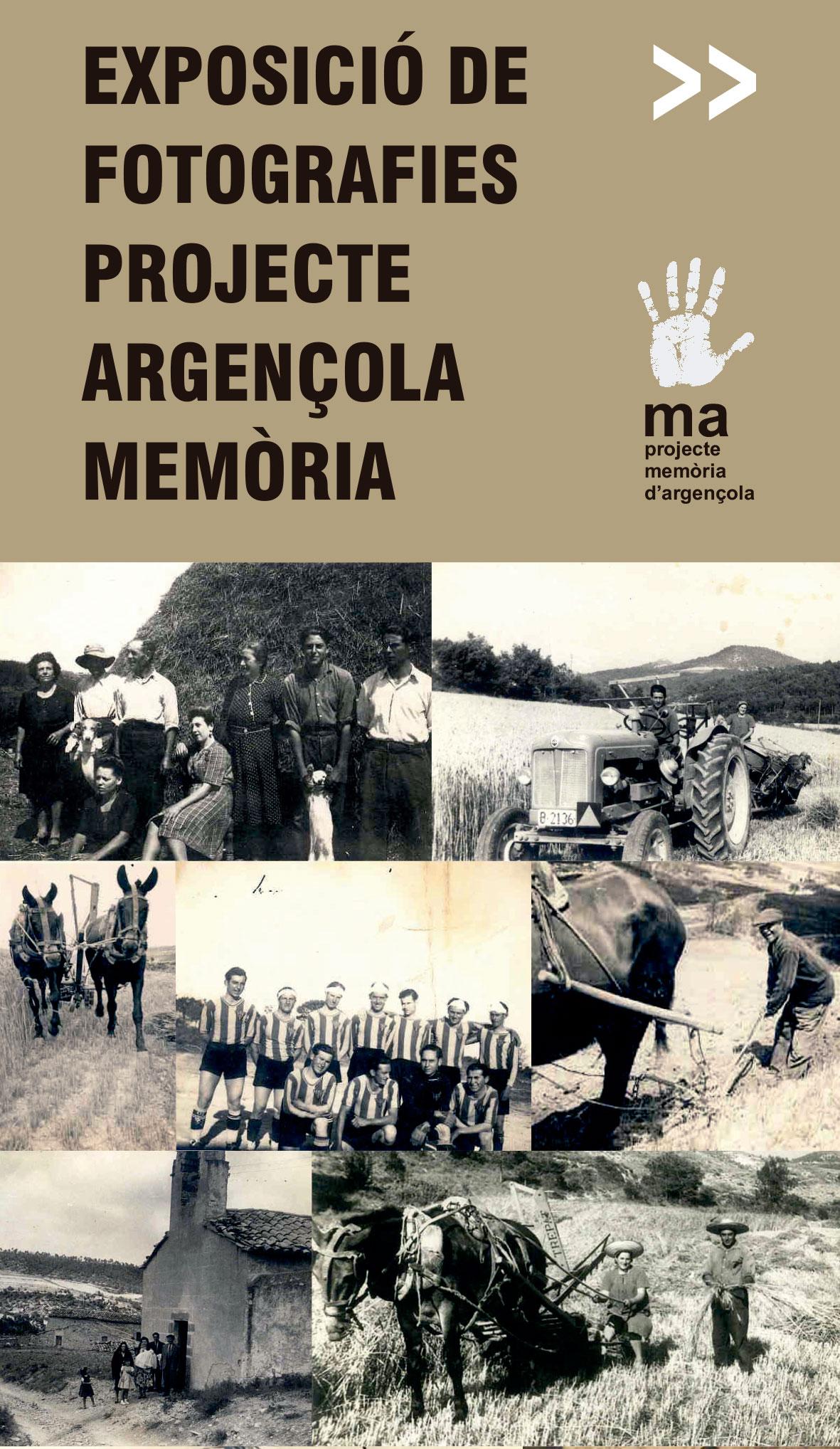 cartell Exposició de fotografies Projecte Argençola Memòria