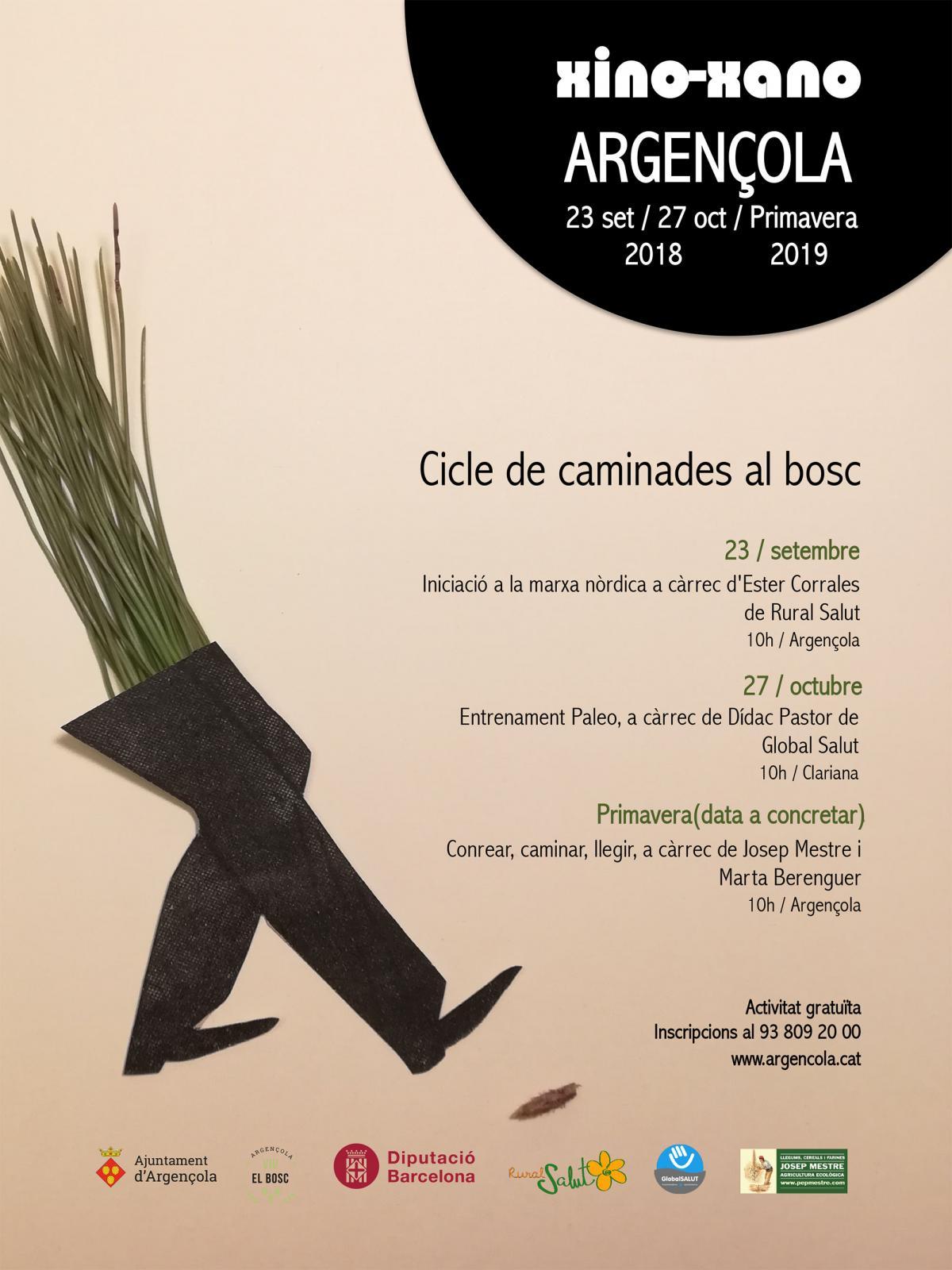 'Xino-Xano' cicle de caminades al bosc d'Argençola