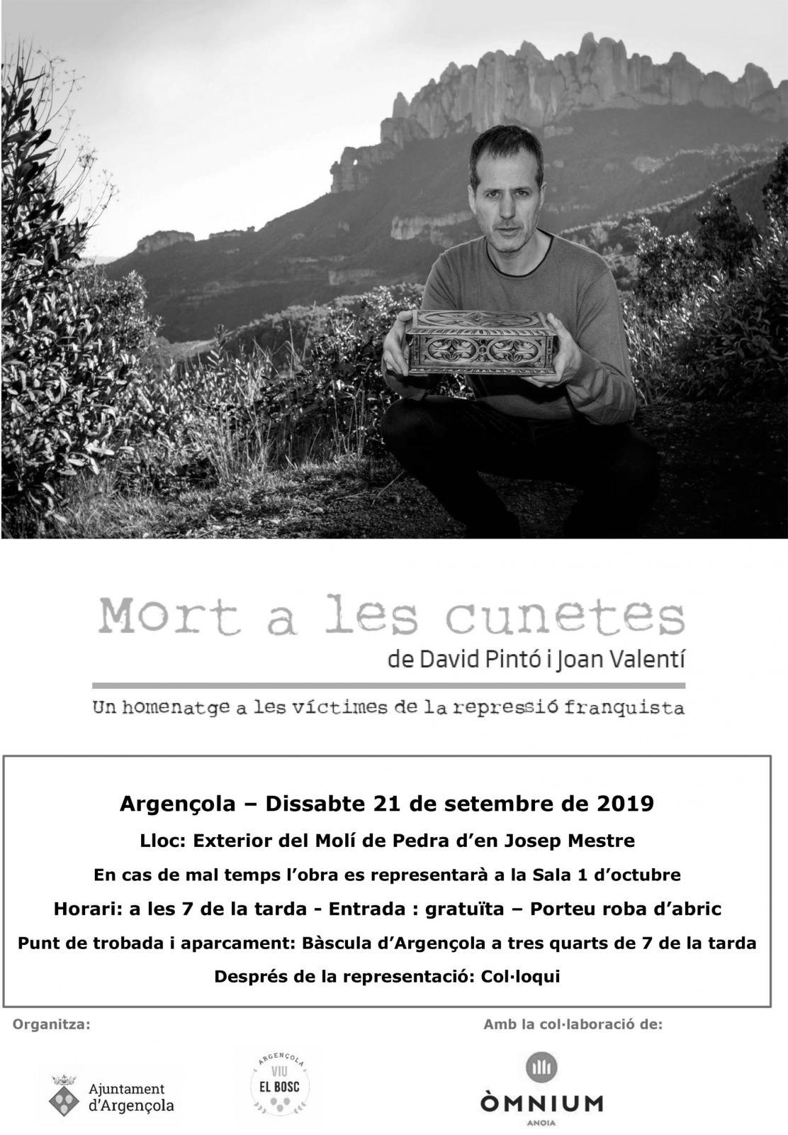Teatre 'Mort a les cunetes. Un homenatge a les víctimes de la repressió franquista'