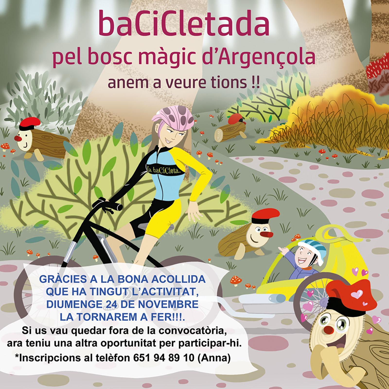 Bacicletada pel bosc màgic d'Argençola. Anem a veure Tions!!
