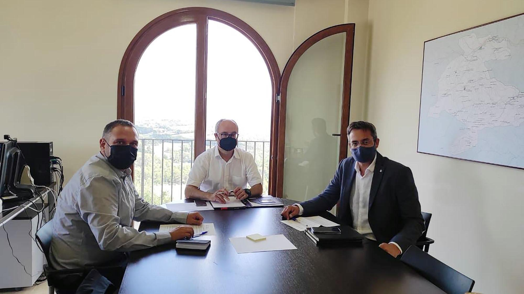 El delegat del Govern a la Vegueria Penedès, David Alquezar, visita Argençola