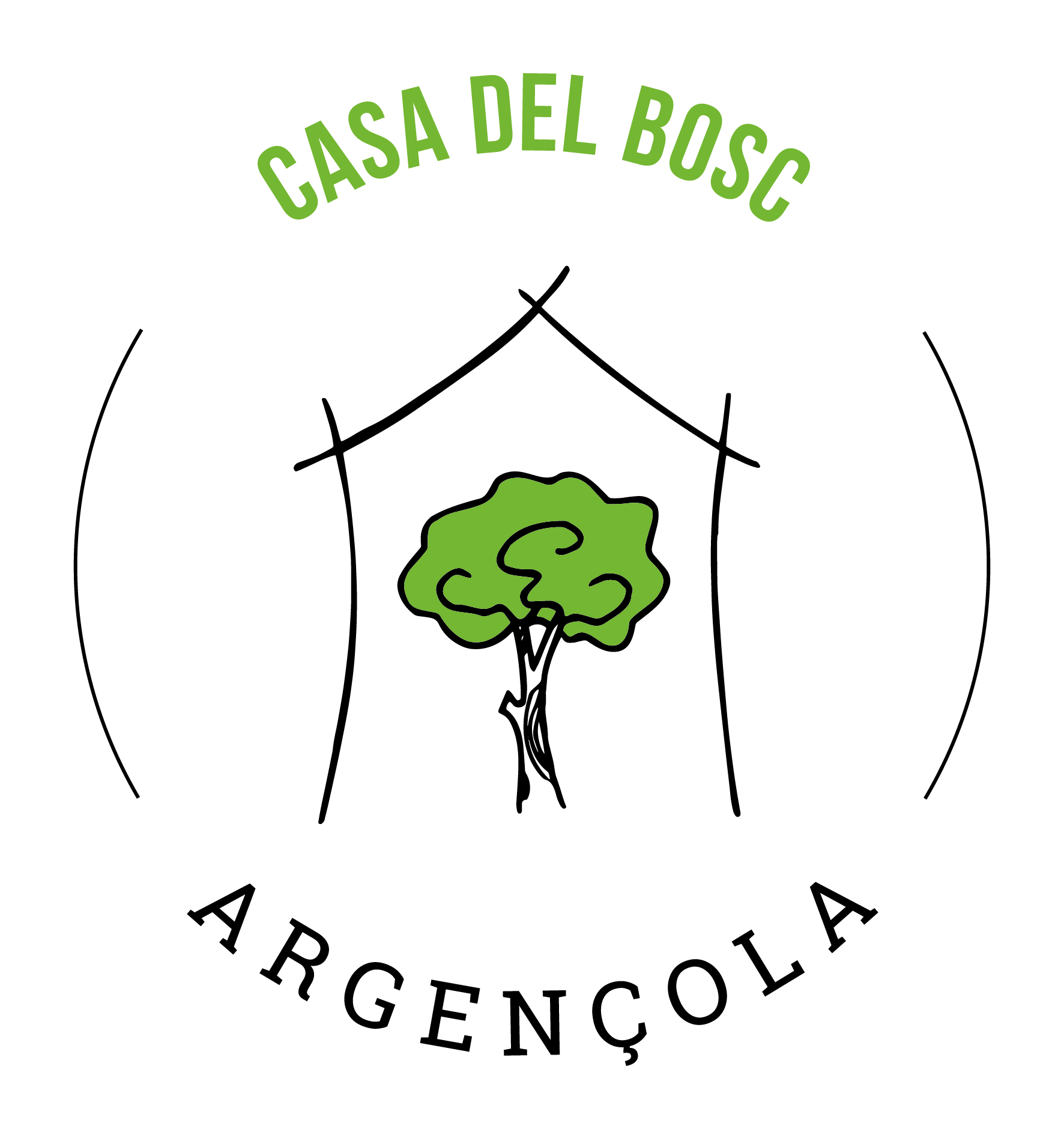 Logotip Argençola Casa del Bosc